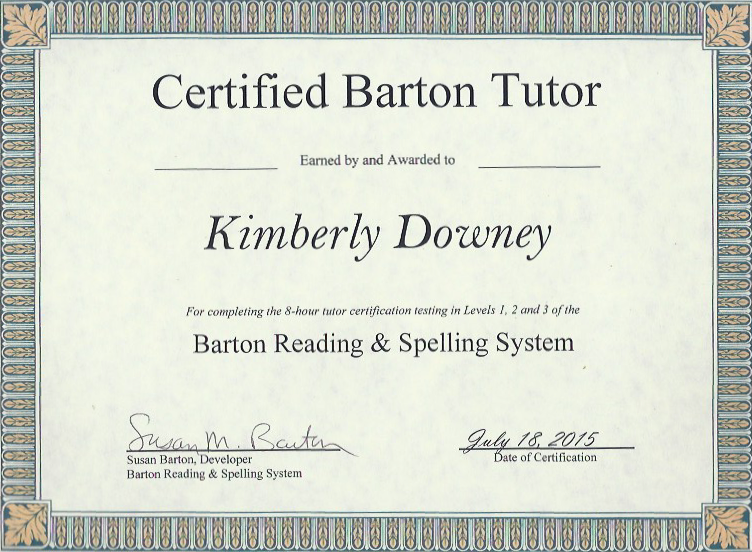 k-barton-cert